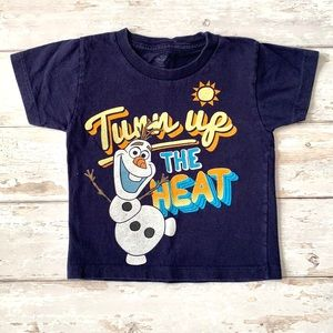 Disney Boys 3T Frozen Olaf Shirt Navy Blue